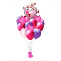 букет из шаров с нюшей доставка шаров, воздушные шары, шарики с гелием, воздушные шары, воздушные шары спб