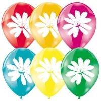 шары с цветком доставка шаров, воздушные шары, шарики с гелием, воздушные шары, воздушные шары спб