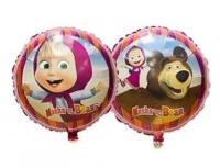 круг «маша и мишка» воздушные шары, купить недорого