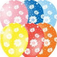 шары с ромашками доставка шаров, воздушные шары, шарики с гелием, воздушные шары, воздушные шары спб