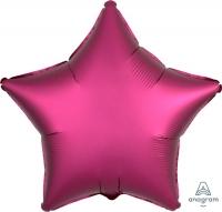 звезда сатин гранат доставка шаров, воздушные шары, шарики с гелием, воздушные шары, воздушные шары спб
