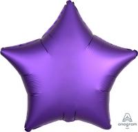 звезда сатин фиолетовый доставка шаров, воздушные шары, шарики с гелием, воздушные шары, воздушные шары спб