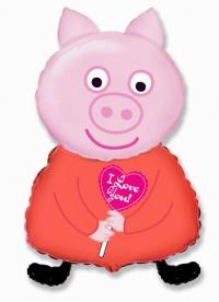 шар свинка пеппа доставка шаров, воздушные шары, шарики с гелием, воздушные шары, воздушные шары спб