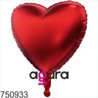 шар сердце красное «агура» доставка шаров, воздушные шары, шарики с гелием, воздушные шары, воздушные шары спб