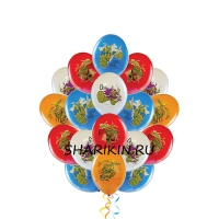 фонтан черепашки ниндзя доставка шаров, воздушные шары, шарики с гелием, воздушные шары, воздушные шары спб
