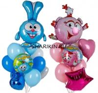 смешарики доставка шаров, воздушные шары, шарики с гелием, воздушные шары, воздушные шары спб