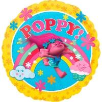шар розочка тролли круг доставка шаров, воздушные шары, шарики с гелием, воздушные шары, воздушные шары спб
