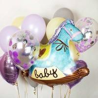 набор «выписка» с лошадкой доставка шаров, воздушные шары, шарики с гелием, воздушные шары, воздушные шары спб