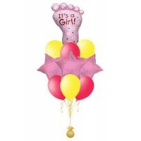 с новорожденным! доставка шаров, воздушные шары, шарики с гелием, воздушные шары, воздушные шары спб
