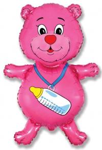 шар мишка с бутылочкой доставка шаров, воздушные шары, шарики с гелием, воздушные шары, воздушные шары спб