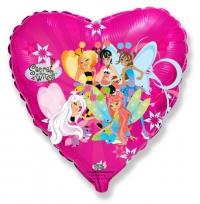 фея сердце доставка шаров, воздушные шары, шарики с гелием, воздушные шары, воздушные шары спб