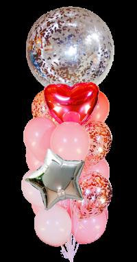 набор шаров «для неё» именной доставка шаров, воздушные шары, шарики с гелием, воздушные шары, воздушные шары спб