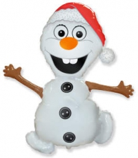 шар «снеговик олаф» доставка шаров, воздушные шары, шарики с гелием, воздушные шары, воздушные шары спб
