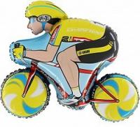 шар «велосипедист» доставка шаров, воздушные шары, шарики с гелием, воздушные шары, воздушные шары спб