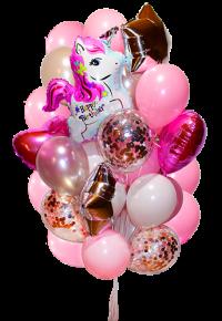 набор шаров  с единорогом 01 доставка шаров, воздушные шары, шарики с гелием, воздушные шары, воздушные шары спб