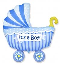 фонтан на выписку «малыш в коляске» доставка шаров, воздушные шары, шарики с гелием, воздушные шары, воздушные шары спб