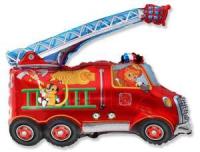 шар «пожарная машина» доставка шаров, воздушные шары, шарики с гелием, воздушные шары, воздушные шары спб