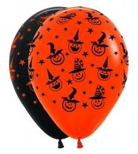 шар «шляпы на тыкве» доставка шаров, воздушные шары, шарики с гелием, воздушные шары, воздушные шары спб