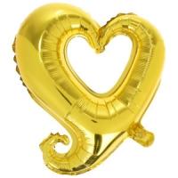 шар «сердце витое» доставка шаров, воздушные шары, шарики с гелием, воздушные шары, воздушные шары спб