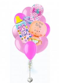 фонтан из шаров на выписку воздушные шары, купить недорого