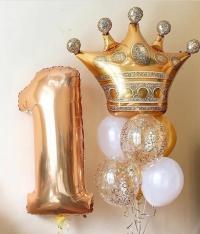 набор из шаров «золотая корона» доставка шаров, воздушные шары, шарики с гелием, воздушные шары, воздушные шары спб