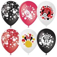 шар латексный «минни и микки» доставка шаров, воздушные шары, шарики с гелием, воздушные шары, воздушные шары спб