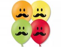 смайл с усами доставка шаров, воздушные шары, шарики с гелием, воздушные шары, воздушные шары спб