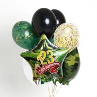 набор шаров «праздничный 23» доставка шаров, воздушные шары, шарики с гелием, воздушные шары, воздушные шары спб