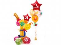 фигура из шаров на 1 сентября доставка шаров, воздушные шары, шарики с гелием, воздушные шары, воздушные шары спб