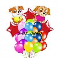 фонтан щенячий патруль доставка шаров, воздушные шары, шарики с гелием, воздушные шары, воздушные шары спб