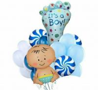 радостная выписка доставка шаров, воздушные шары, шарики с гелием, воздушные шары, воздушные шары спб