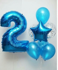 набор шаров с цифрой доставка шаров, воздушные шары, шарики с гелием, воздушные шары, воздушные шары спб