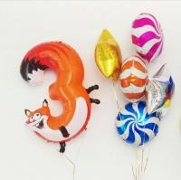 сет «яркий день рождения» доставка шаров, воздушные шары, шарики с гелием, воздушные шары, воздушные шары спб
