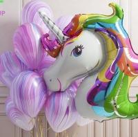 фонтан «супер единорог» доставка шаров, воздушные шары, шарики с гелием, воздушные шары, воздушные шары спб