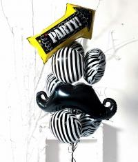 фонтан из шаров «мальчишник party time» доставка шаров, воздушные шары, шарики с гелием, воздушные шары, воздушные шары спб