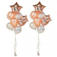 фонтан из шаров «розовое золото» доставка шаров, воздушные шары, шарики с гелием, воздушные шары, воздушные шары спб