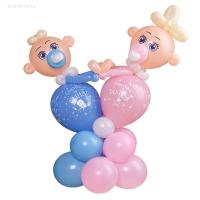 фигура из шаров «твинс» доставка шаров, воздушные шары, шарики с гелием, воздушные шары, воздушные шары спб