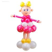 фигура из шаров «девочка» доставка шаров, воздушные шары, шарики с гелием, воздушные шары, воздушные шары спб