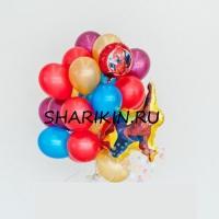 фонтан «человек паук 1» доставка шаров, воздушные шары, шарики с гелием, воздушные шары, воздушные шары спб