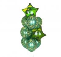 фонтан из шаров «милитари» доставка шаров, воздушные шары, шарики с гелием, воздушные шары, воздушные шары спб