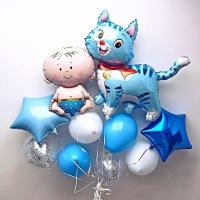 радостная выписка 2 доставка шаров, воздушные шары, шарики с гелием, воздушные шары, воздушные шары спб