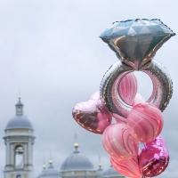 набор шаров «кольцо» доставка шаров, воздушные шары, шарики с гелием, воздушные шары, воздушные шары спб