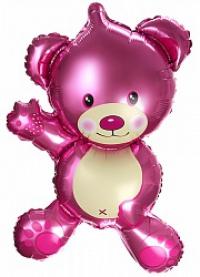 набор «перламутровый мишка» доставка шаров, воздушные шары, шарики с гелием, воздушные шары, воздушные шары спб