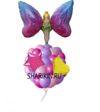 фонтан из шаров «фея» доставка шаров, воздушные шары, шарики с гелием, воздушные шары, воздушные шары спб