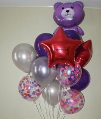 космический мишка доставка шаров, воздушные шары, шарики с гелием, воздушные шары, воздушные шары спб