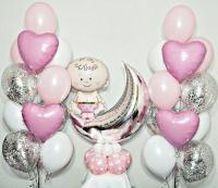 набор шаров «выписка 02» доставка шаров, воздушные шары, шарики с гелием, воздушные шары, воздушные шары спб