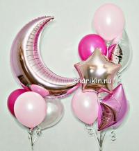 набор шаров «полумесяц» доставка шаров, воздушные шары, шарики с гелием, воздушные шары, воздушные шары спб