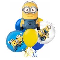 набор шаров «миньоны» доставка шаров, воздушные шары, шарики с гелием, воздушные шары, воздушные шары спб