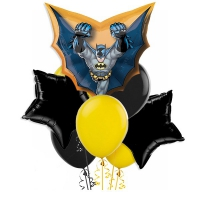 набор шаров с бэтменом доставка шаров, воздушные шары, шарики с гелием, воздушные шары, воздушные шары спб