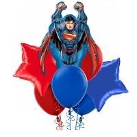 набор шаров «супермен» доставка шаров, воздушные шары, шарики с гелием, воздушные шары, воздушные шары спб